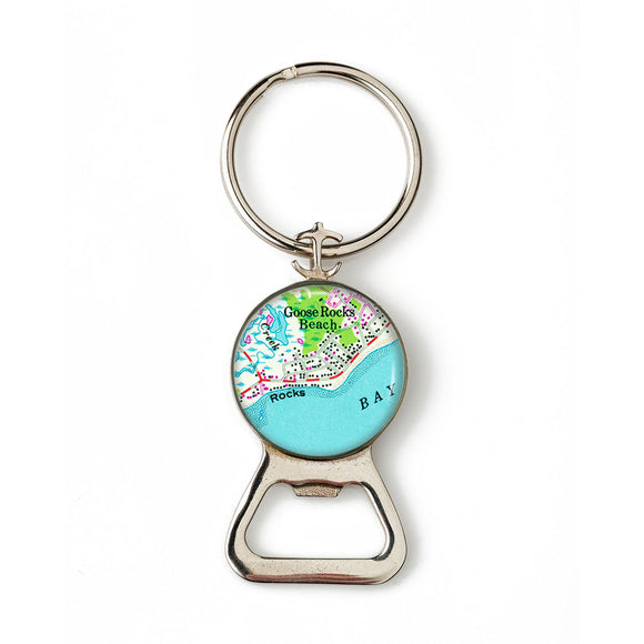 Goose Rocks Beach 1 Combination Bottle Opener with Key Ring
