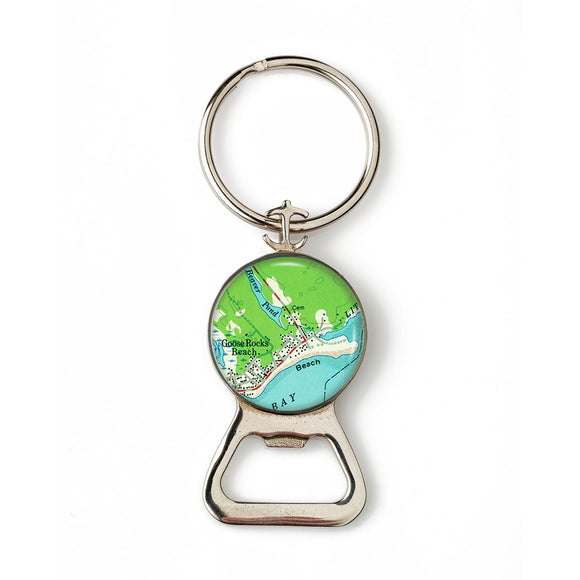 Goose Rocks Beach 2 Combination Bottle Opener with Key Ring