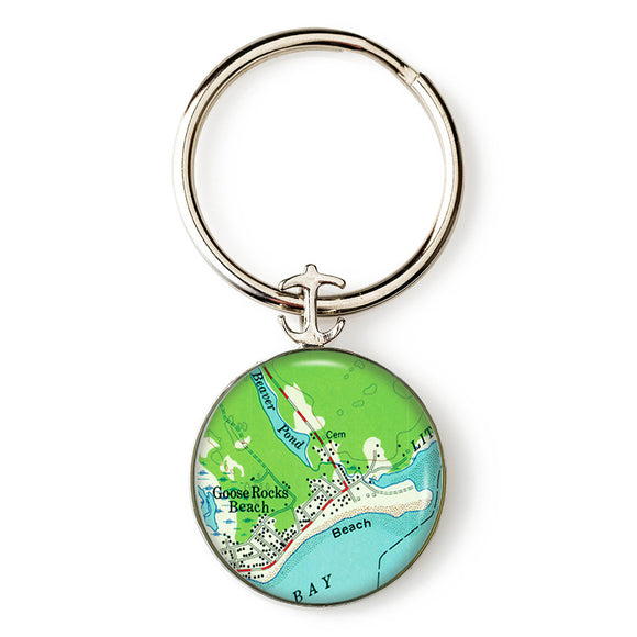 Goose Rocks Beach 2 Anchor Key Ring