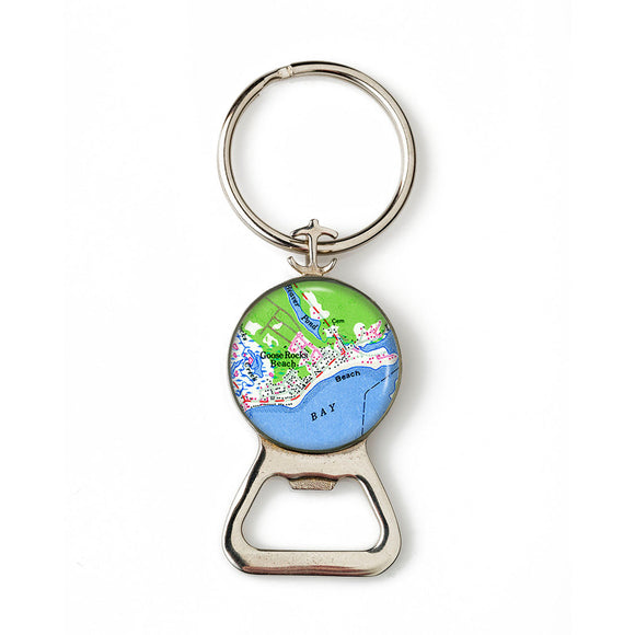 Goose Rocks Beach 3 Combination Bottle Opener with Key Ring
