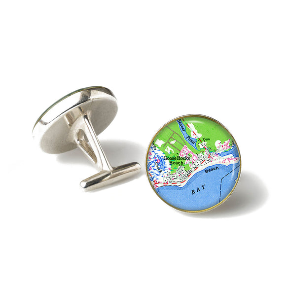 Goose Rocks Beach 3 Anchor Cufflinks