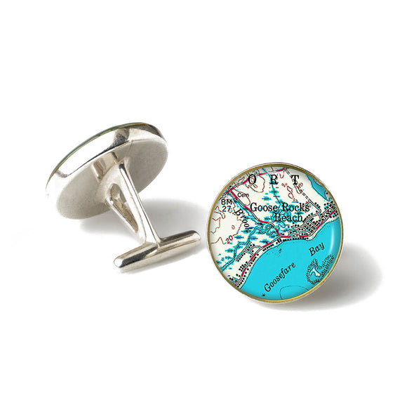 Goose Rocks Beach 4 Anchor Cufflinks