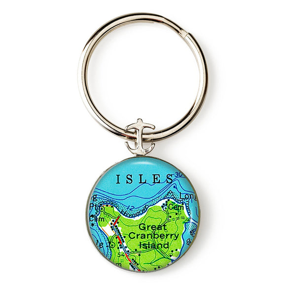 Great Cranberry Isle Anchor Key Ring