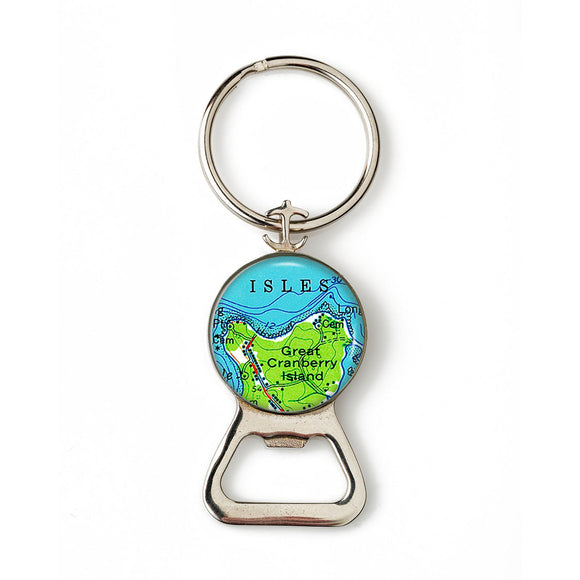 Great Cranberry Isle Anchor Combination Bottle Opener with Key Ring