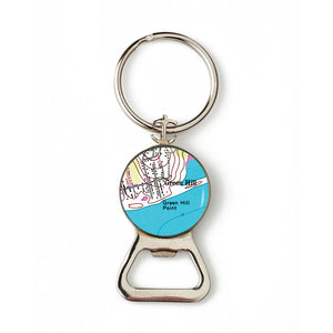 Green Hill Combination Bottle Opener With Key Ring
