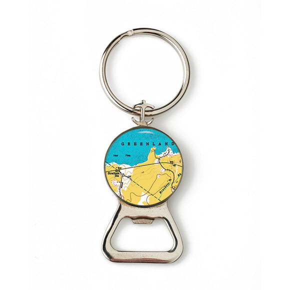 Greenland Anchor Combination Bottle Opener with Key Ring