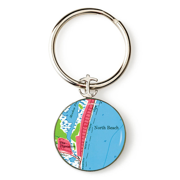Hampton Beach North Beach Anchor Key Ring