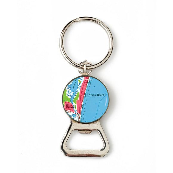 Hampton Beach North Beach Anchor Combination Bottle Opener with Key Ring