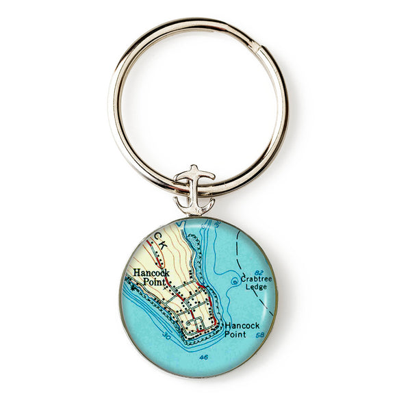 Hancock Point Anchor Key Ring