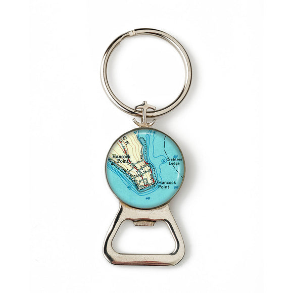 Hancock Point Anchor Combination Bottle Opener with Key Ring