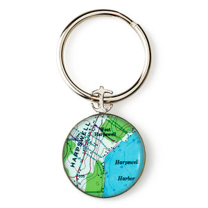 Harpswell Harbor Key Ring
