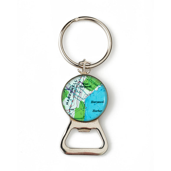 Harpswell Harbor Combination Bottle Opener with Key Ring