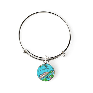 Hermit Island Expandable Bracelet with Anchor Charm