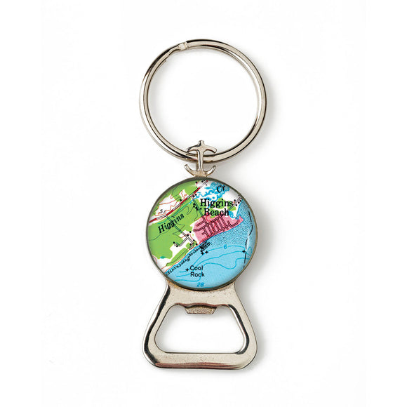 Higgins Beach 1 Combination Bottle Opener With Key Ring