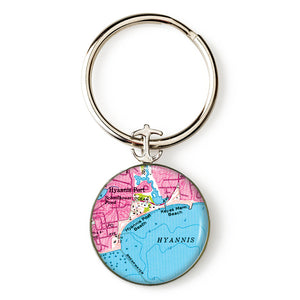 Hyannis Port Anchor Key Ring