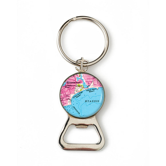 Hyannis Port Combination Bottle Opener with Key Ring