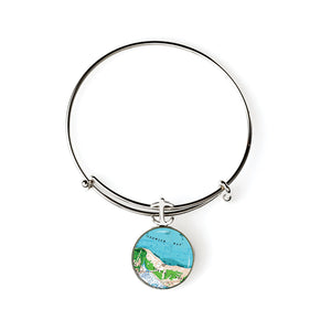 Ipswich Crane Beach Expandable Bracelet with Anchor Charm