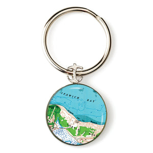 Ipswich Crane Beach Anchor Key Ring