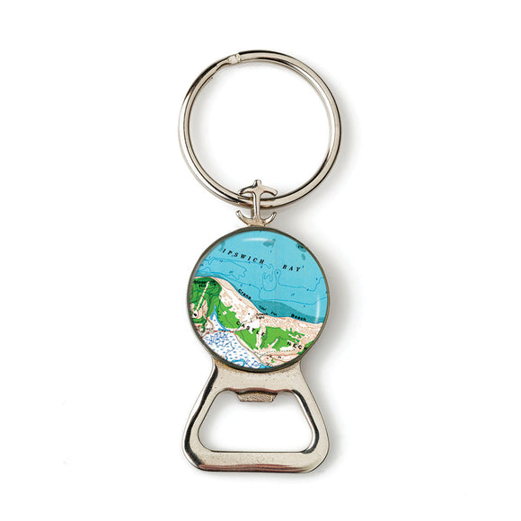 Ipswich Crane Beach Combination Bottle Opener with Key Ring