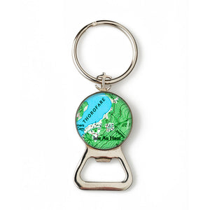 Isle Au Haut Thoroghfare Anchor Combination Bottle Opener with Key Ring