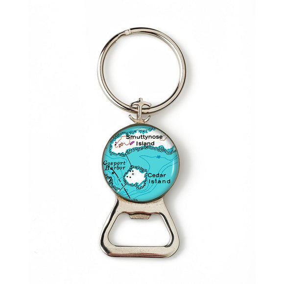 Isle Of Shoals Smuttynose Cedar Island Anchor Combination Bottle Opener with Key Ring