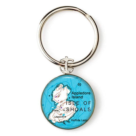 Isle of Shoals Appledore Island Anchor Key Ring