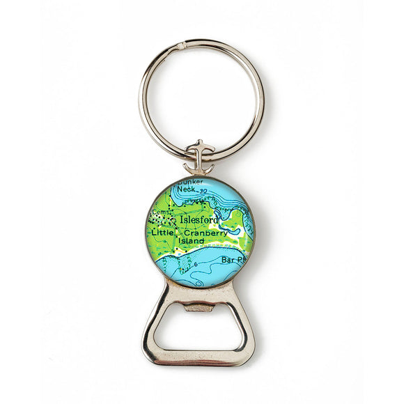 Islesford Little Cranberry 2 Anchor Combination Bottle Opener with Key Ring