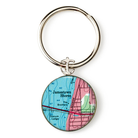 Jamestown Anchor Key Ring