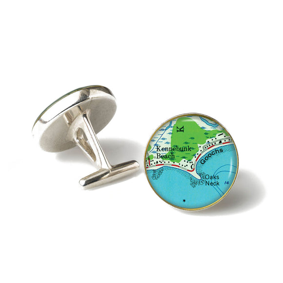 Kennebunk Beach Goochs Anchor Cufflinks