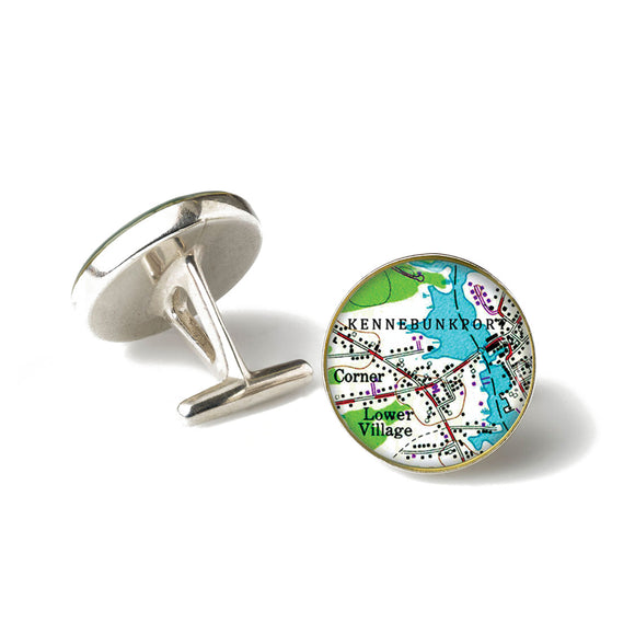 Kennebunkport Lower Village Anchor Cufflinks