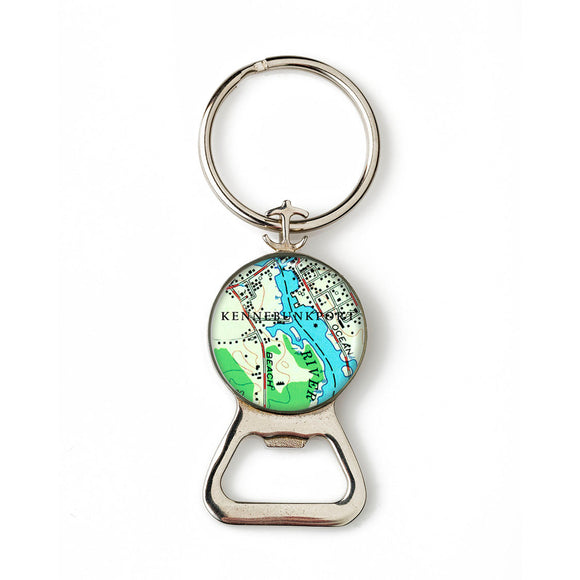 Kennebunkport Combination Bottle Opener with Key Ring