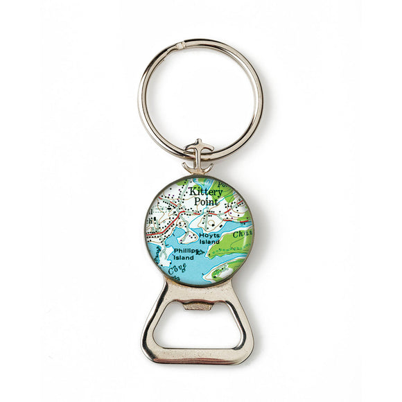Kittery Point Hoyts Island Combination Bottle Opener with Key Ring