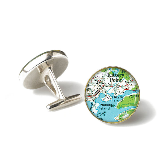 Kittery Point Hoyts Island Anchor Cufflinks