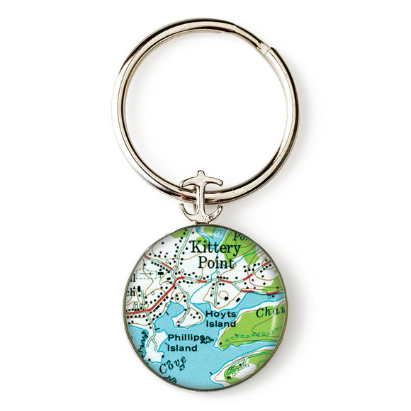 Kittery Point Hoyts Island Anchor Key Ring