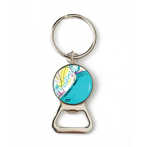 Laudholm Beach Combination Bottle Opener with Key Ring