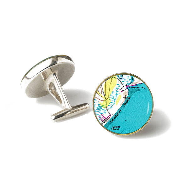 Laudholm Beach Anchor Cufflinks