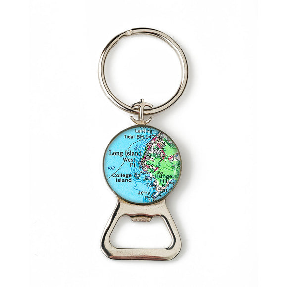 Long Island College Island Combination Bottle Opener With Key Ring