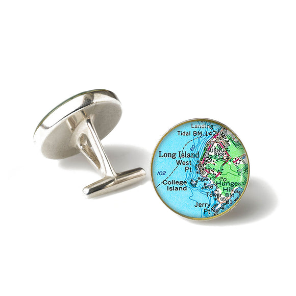 Long Island College Island Cufflinks