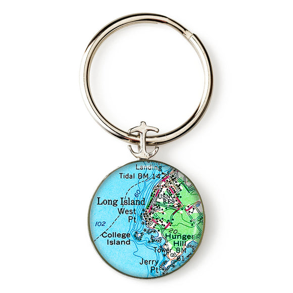 Long Island College Island Anchor Key Ring