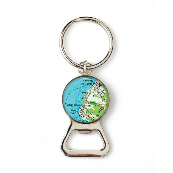 Long Island West Point Combination Bottle Opener With Key Ring