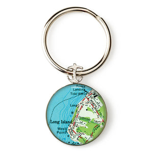 Long Island West Point Anchor Key Ring
