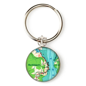 Machiasport Anchor Key Ring