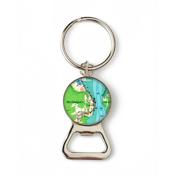 Machiasport Anchor Combination Bottle Opener with Key Ring