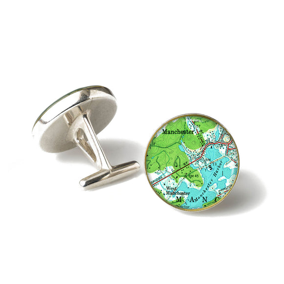 Manchester Harbor West Cufflinks