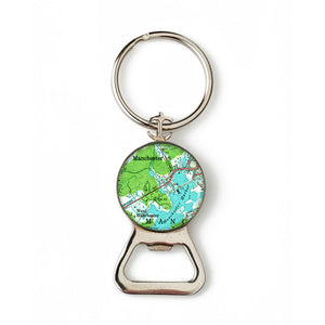 Manchester Harbor West Combination Bottle Opener with Key Ring