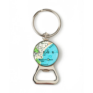 Manchester Singing Beach Combination Bottle Opener with Key Ring