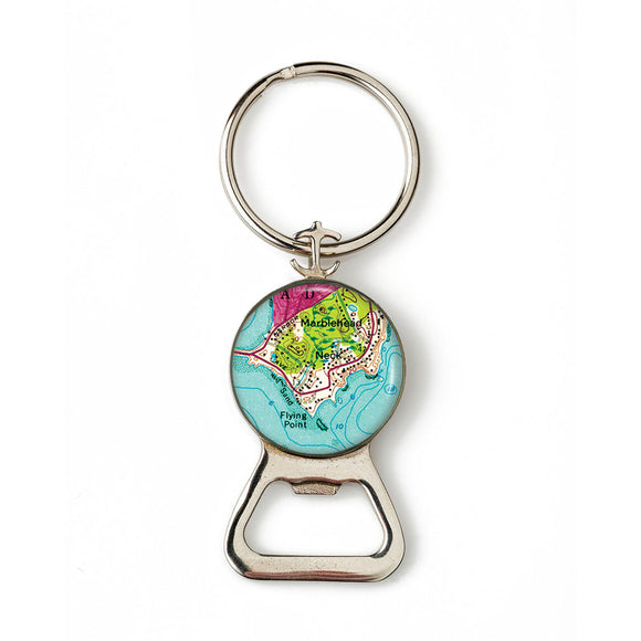 Marblehead The Neck Combination Bottle Opener with Key Ring
