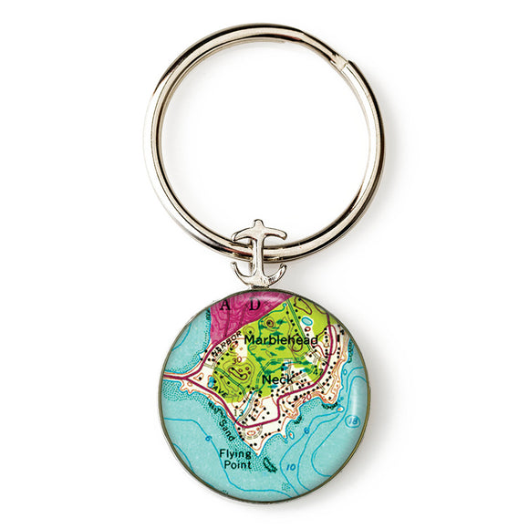 Marblehead The Neck Anchor Key Ring
