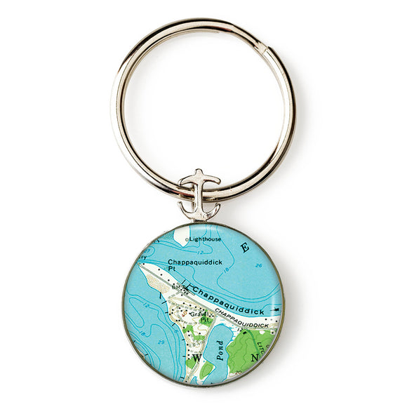 Martha's Vineyard Chappaquiddick Anchor Key Ring