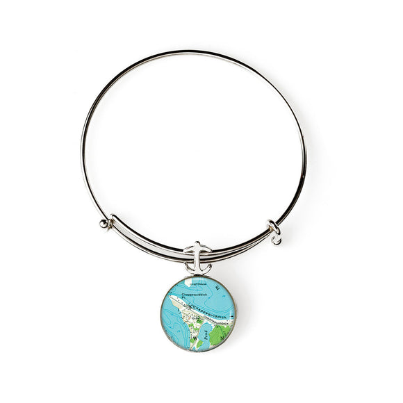 Martha's Vineyard Chappaquiddick Expandable Bracelet with Anchor Charm